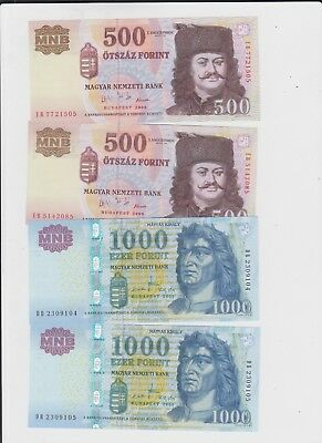 Hungary Paper Money 4 old notes uncirculated