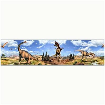 RoomMates For Kids RMK1042BCS PEEL & STICK DINOSAUR WALL BORDER Decal Sticker