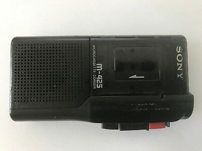 Sony M-425 Pressman MicroCassette Voice Recorder Dictaphone Dictation Machine