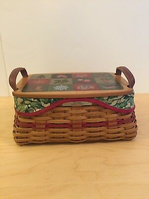 Longaberger Christmas Collection Traditions Basket W/ Lid, Protector And More