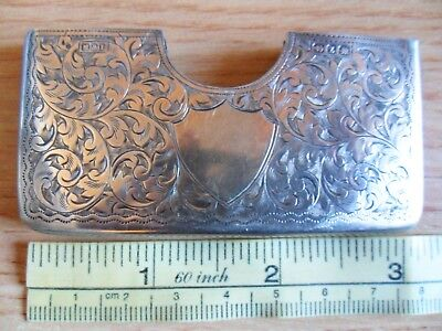 Antique 1899 Silver Card Case Beautifully Engraved 8x4cm