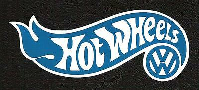 VW Volkswagen Hot Wheels Sticker, Vintage Sports Car Racing Decal