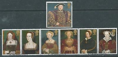 GB 1997 - Henry VIII & Wives - Set - Very fine used