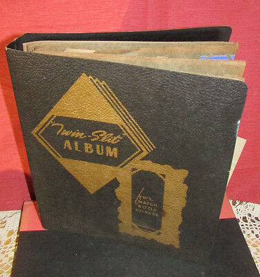MATCHBOOK Covers ALBUM Antique 125+ COLLECTION In Gromay Co TWIN-SLIT Spiral