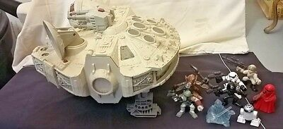 2001 STAR WARS Hasbro Millennium Falcon with Sounds and Action Figures