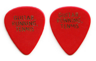 Vintage Eric Clapton Andy Fairweather Low Signature Concert-Used Red Guitar Pick