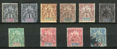 1892+ French India Stamps,Navigation and Commerce, Mint/Used