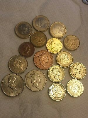 Great Britain UK British lot pounds Euros coin collection