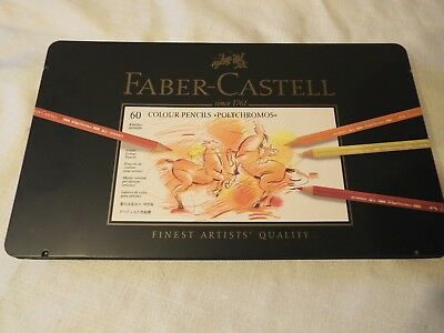 FABER- CASTELL...60 Colour Pencils...Finest Artists Quality...Used Twice...VGC..