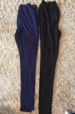 Two Pack New Look Maternity Leggings Size Small