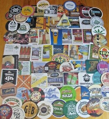 75 New Microbrew & Craft Beer Coasters! Lot #2 of 4!! Hemp Ale! Free Shipping!