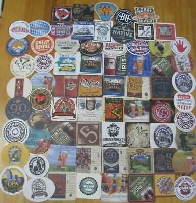 70 New Microbrew & Craft Beer Coasters from Colorado!  No Dupes! Free Shipping!