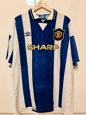 4f7187703ee Manchester United Original 3. Trikot Alternate Jersey Umbro 1994-1996 XL  Sharp