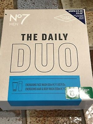 No 7 Men The Daily Duo Gift Set - Great Xmas Sticking Filler