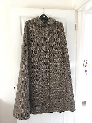 Vintage Wool Cape Seigal Coat Circa 1974 One Size