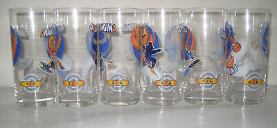 ORANGINA : 6 Verres Collection 1999 - Serie GLISSE NEUF Voir Photo