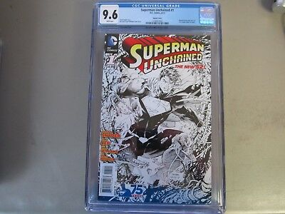 Superman Unchained #1 CGC 9.6 Comic Book Sketch Cover