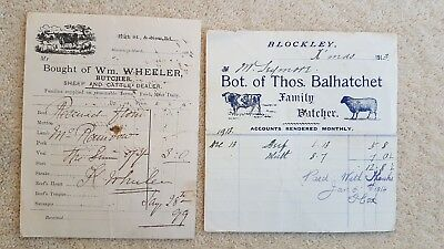 Balhatchet Butcher Blockley Wheeler butcher Moreton Great Wolford  1899/1913