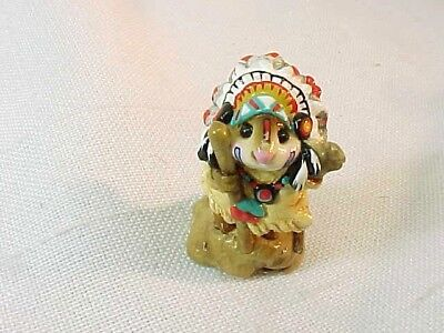 Wee Forest Folk M-107a Chief Geronimouse - Retired - Indian WFF AP With Box