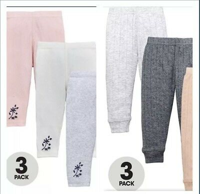 Mini V By Very Baby Girls 3 X 2 Packs Of Baby Girls Multi Leggings 6-9 Months