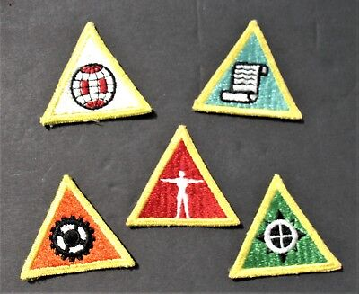 Boy Scouts Of America Bsa (5) Vintage Education Merit Badges Patches