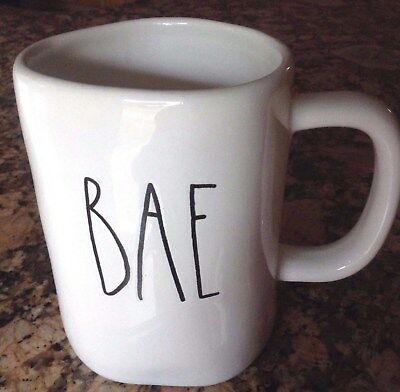 "Rae Dunn by Magenta ""BAE"" large letter LL rare HTF mug Artisan Collection"