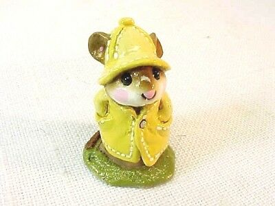 Wee Forest Folk APRIL SHOWERS  M-180 Mouse Yellow Rain Coat w/Box