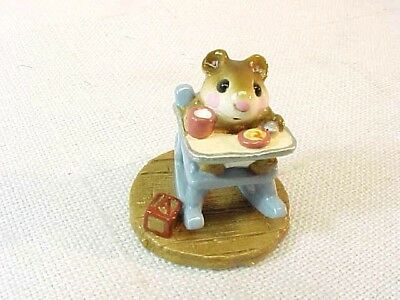 Wee Forest Folk - M103 Rocking Tot Blue Chair - William Petersen -1983 With Box