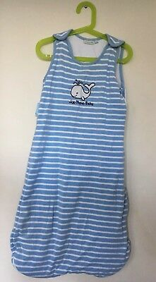 Baby Boys Jojo Maman Bebe Blue Striped Whale Sleeping Bag 2.5 Tog 6-18 Months