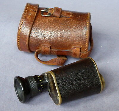 vintage Carl Zeiss Jena monocular in leather case. By Callaghan & co New Bond St