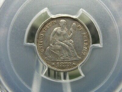 """1873 """"P"""" Seated Liberty Dime 10c Arrows PCGS XF45 East Coast Coin & Collectables"""