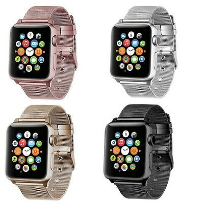 Apple Watch Strap Band Stainless Steel Classic Buckle Bracelet Wrist Series 1/2