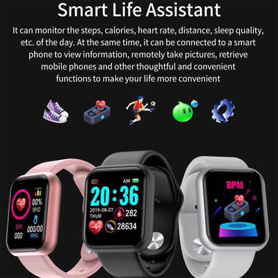 Bluetooth Smart Watch iPhone Android Fitness Activity Tracker Fitbit Pedometer