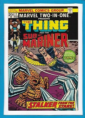 Marvel Two-In-One #2_March 1974_Nm Minus_Thing_Sub-Mariner_Bronze Age Marvel!