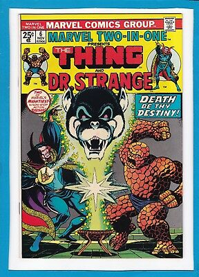 Marvel Two-In-One #6_November 1974_Nm Minus_The Thing_Dr. Strange_Bronze Age!