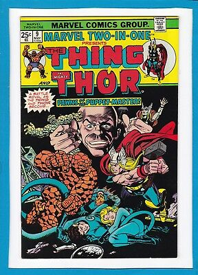 Marvel Two-In-One #9_May 1975_Vf/nm_The Thing_Thor_Fantastic Four_Bronze Age!