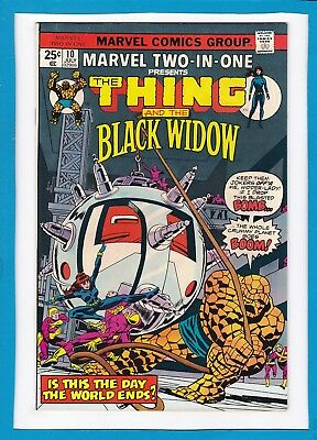 Marvel Two-In-One #10_July 1975_Nea Mint Minus_The Thing_Black Widow_Bronze Age!