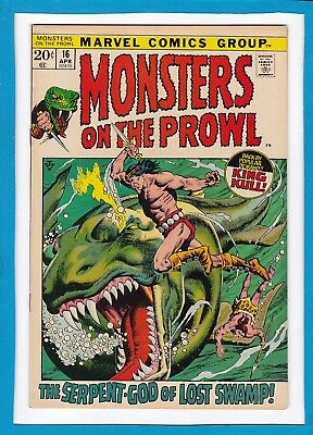 Monsters On The Prowl #16_April 1972_Vf/nm_Early King Kull_Bronze Age Horror!