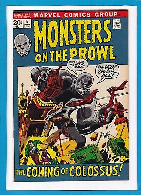 """Monsters On The Prowl #17_June 1972_Vf/nm_""""the Coming Of Colossus""""_Bronze Age!"""