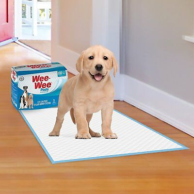 100 Dog Pads Puppy Training Potty Pet House Breaking Wee Pee 5 Layers 22 x 23 in