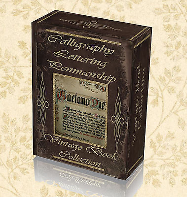 220 BOOKS ON USB LETTERING HAND WRITING INK LEARN PENMANSHIP /& CALLIGRAPHY
