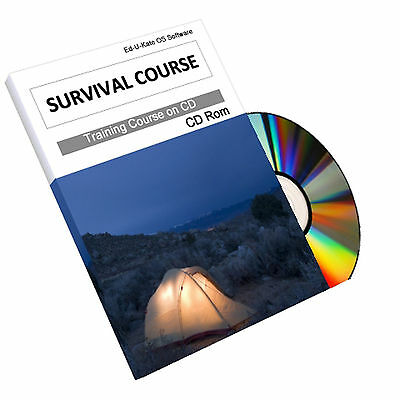 Survival Bushcraft Camping Training Course Manual Guide Book on CD