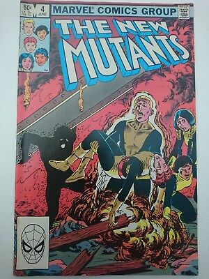 THE NEW MUTANTS #4, 1983, FN 6.0, by Chris Claremont, Sal Buscema & Bob McLeod