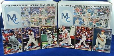 2018 Topps Series 1 & 2  Complete Set 700 Cards - Devers Hoskins Ohtani Rookies