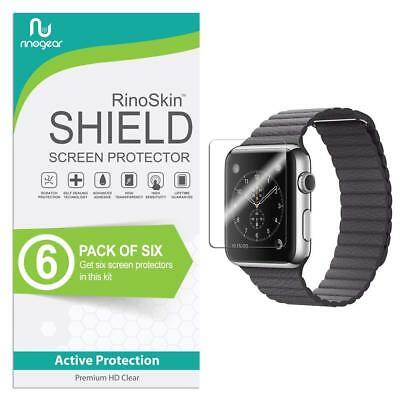 [6-Pack] RinoGear for Apple Watch Screen Protector 42mm (Series 3, 2, 1) iWatch