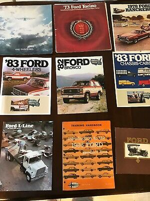 Lot Of  7 Ford Sales Brochures