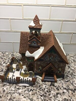 """Dept """" 56 """" New England Series """" Laurel Hill Church """" AWESOME CONDITION"""