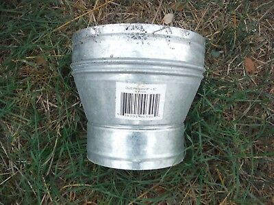 6 inch x 8 inch Round Duct Reducer / Increaser