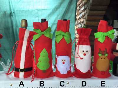 Wine Bottle Covers - Novelty Christmas, 6 types to choose from! Great gift idea.