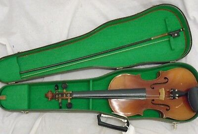 Acoustic Violin, Bow And Hard Case